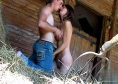 Porn incest couple of cousins fuck in the barn