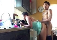 Real Sex Incest – Mother and Son Sex in the Kitchen