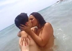 The Boy Jordi and the hot Sister fucking on the Beach